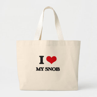 I love My Snob Tote Bags