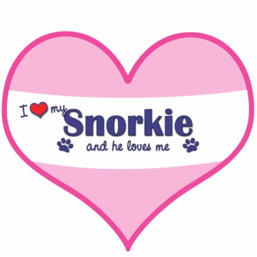 I Love My Snorkie (Male Dog) Photo Cut Outs