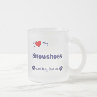 I Love My Snowshoes (Multiple Cats) Coffee Mugs