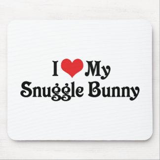 I Love My Snuggle Bunny Mouse Pad