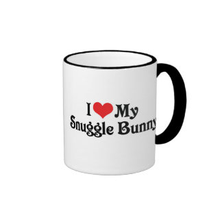 I Love My Snuggle Bunny Ringer Coffee Mug