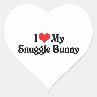 I Love My Snuggle Bunny Heart Sticker
