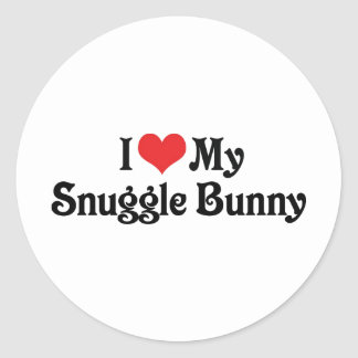 I Love My Snuggle Bunny Classic Round Sticker