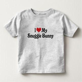 I Love My Snuggle Bunny Tees