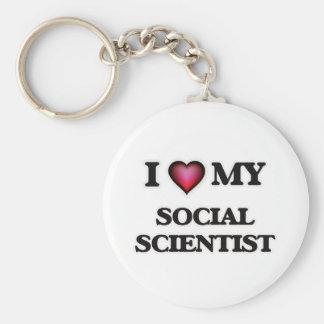 I love my Social Scientist Basic Round Button Keychain
