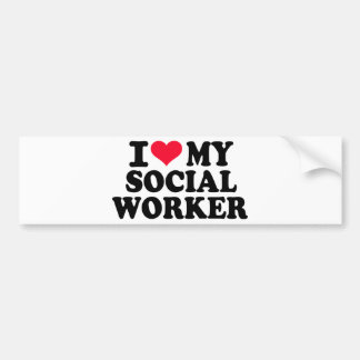 I love my Social Worker Bumper Sticker