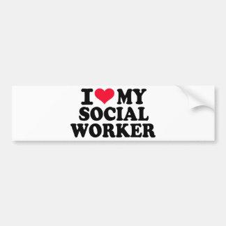 I love my Social Worker Bumper Sticker