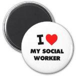 I love My Social Worker Fridge Magnet