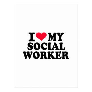 I love my Social Worker Postcard