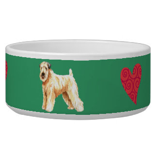 I Love my Soft Coated Wheaten Terrier Bowl