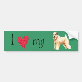 I Love my Soft Coated Wheaten Terrier Bumper Sticker