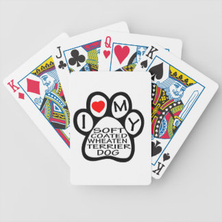 I Love My Soft Coated Wheaten Terrier Dog Playing Cards