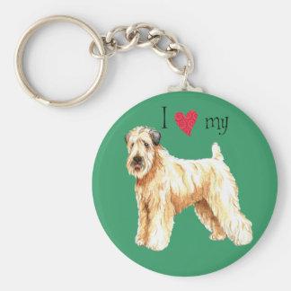 I Love my Soft Coated Wheaten Terrier Keychain