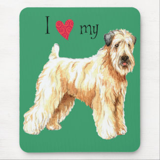 I Love my Soft Coated Wheaten Terrier Mouse Pad