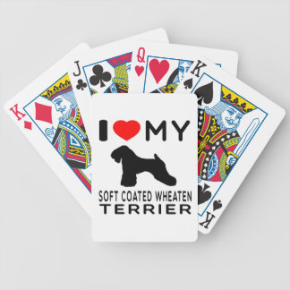 I Love My Soft Coated Wheaten Terrier Bicycle Poker Deck