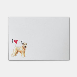 I Love my Soft Coated Wheaten Terrier Post-it Notes