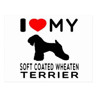 I Love My Soft Coated Wheaten Terrier Postcard