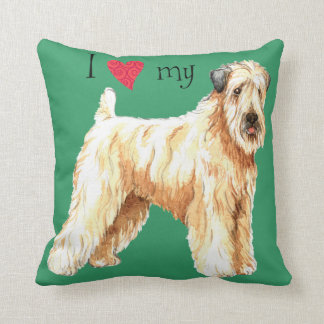 I Love my Soft Coated Wheaten Terrier Throw Pillow
