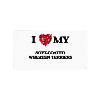 I love my Soft-Coated Wheaten Terriers Address Label