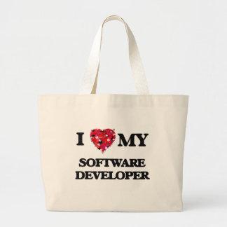 I love my Software Developer Jumbo Tote Bag