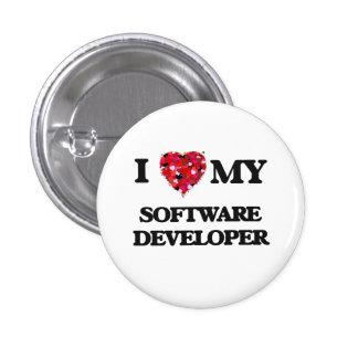 I love my Software Developer 1 Inch Round Button