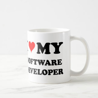 I Love My Software Developer Coffee Mug