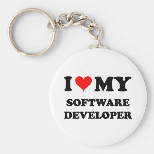 I Love My Software Developer Keychains