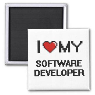 I love my Software Developer 2 Inch Square Magnet