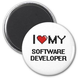 I love my Software Developer 2 Inch Round Magnet