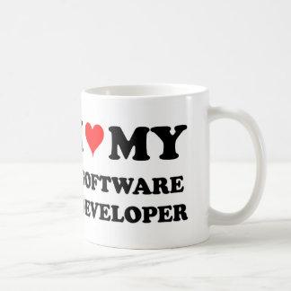 I Love My Software Developer Coffee Mugs