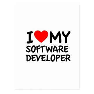 I love my Software Developer Postcard