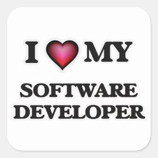 I love my Software Developer Square Sticker