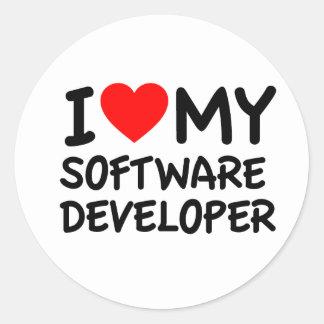 I love my Software Developer Round Sticker
