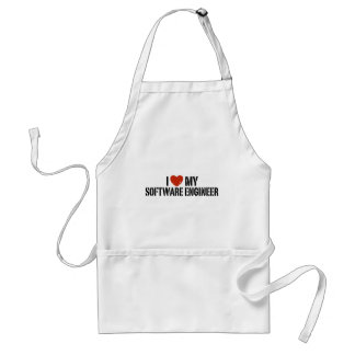 I Love My software Engineer Adult Apron