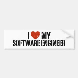 I Love My software Engineer Bumper Sticker