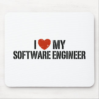 I Love My software Engineer Mouse Pad