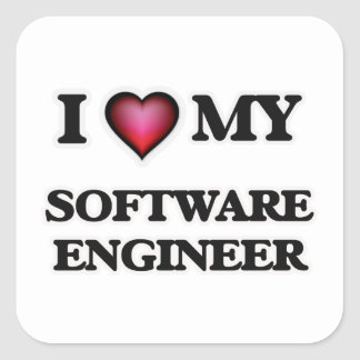 I love my Software Engineer Square Sticker
