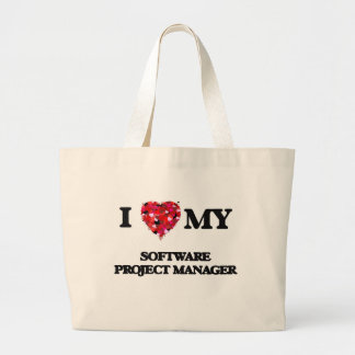 I love my Software Project Manager Jumbo Tote Bag