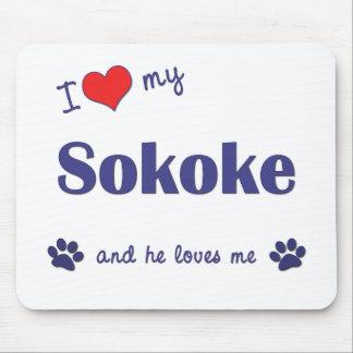 I Love My Sokoke (Male Cat) Mouse Pad