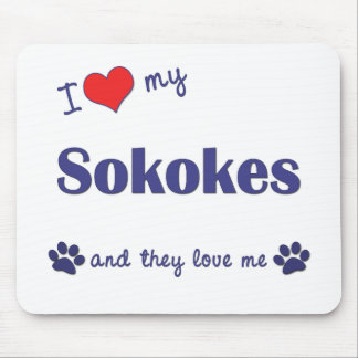 I Love My Sokokes (Multiple Cats) Mouse Pad
