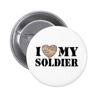 I Love My Soldier 2 Inch Round Button