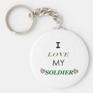 I Love My Soldier 2 Keychain