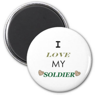 I Love My Soldier 2 Magnet