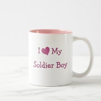 I Love My Soldier Boy Two-Tone Coffee Mug