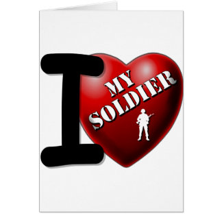 I Love My Soldier Cards