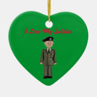 """""""I Love My Soldier"""" Christmas Ornament"""