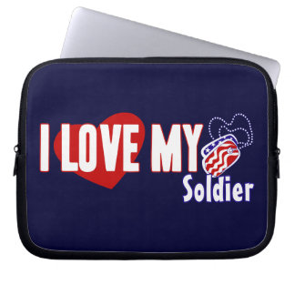 I Love My Soldier Computer Sleeves