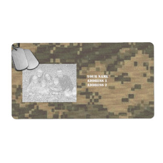 I Love My Soldier Custom Photo Camouflage Label