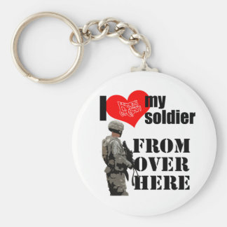 "I Love My Soldier ""From Over Here"" key chain"