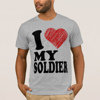 I Love My Soldier Heart Art (Tee) T-Shirts